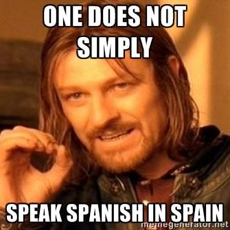 Tak, jestem jestem Anglikiem i nie, nie możemy mówić po angielsku. Dlaczego? Jesteśmy w Murcji... w Hiszpanii!