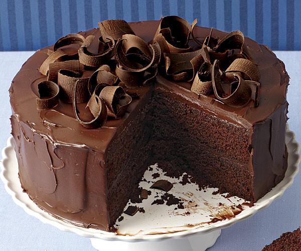 Tarta de chocolate con ganache