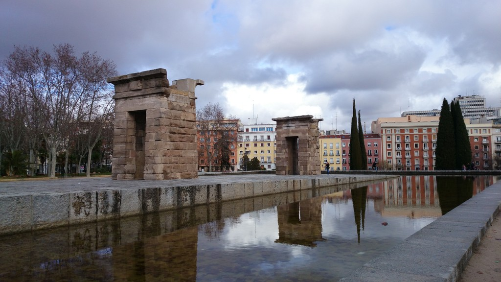 templo de debod a part of egypt in madrid