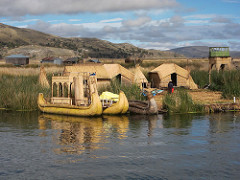 The beautiful floating islands of Uros, in Puno
