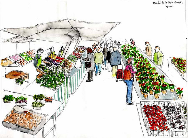 The Croix-Rousse Market... Or FREE groceries!