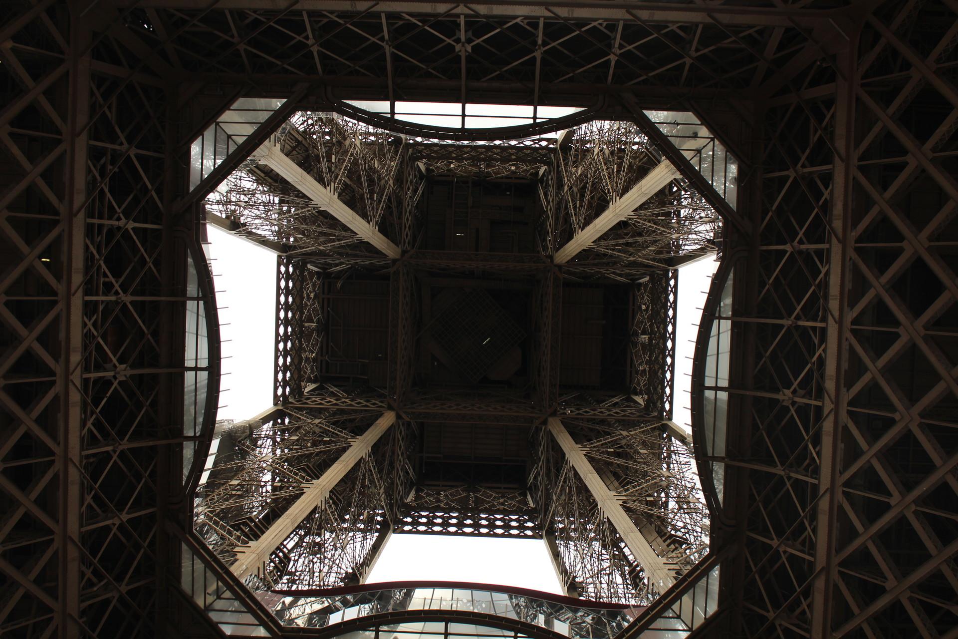 The Eiffel Tower garden