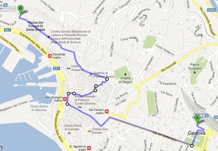 The Map Erasmus Blog Genoa Italy