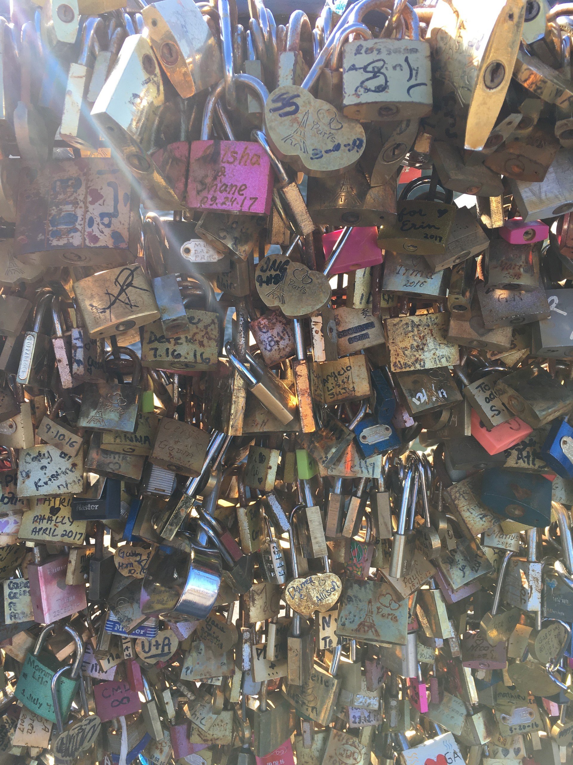 The new Pont des Arts