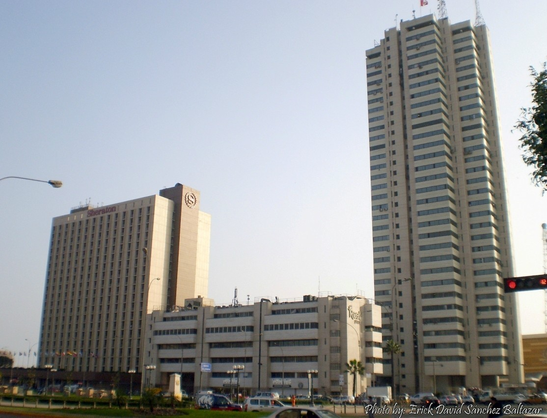 The third tallest building in Lima and Peru