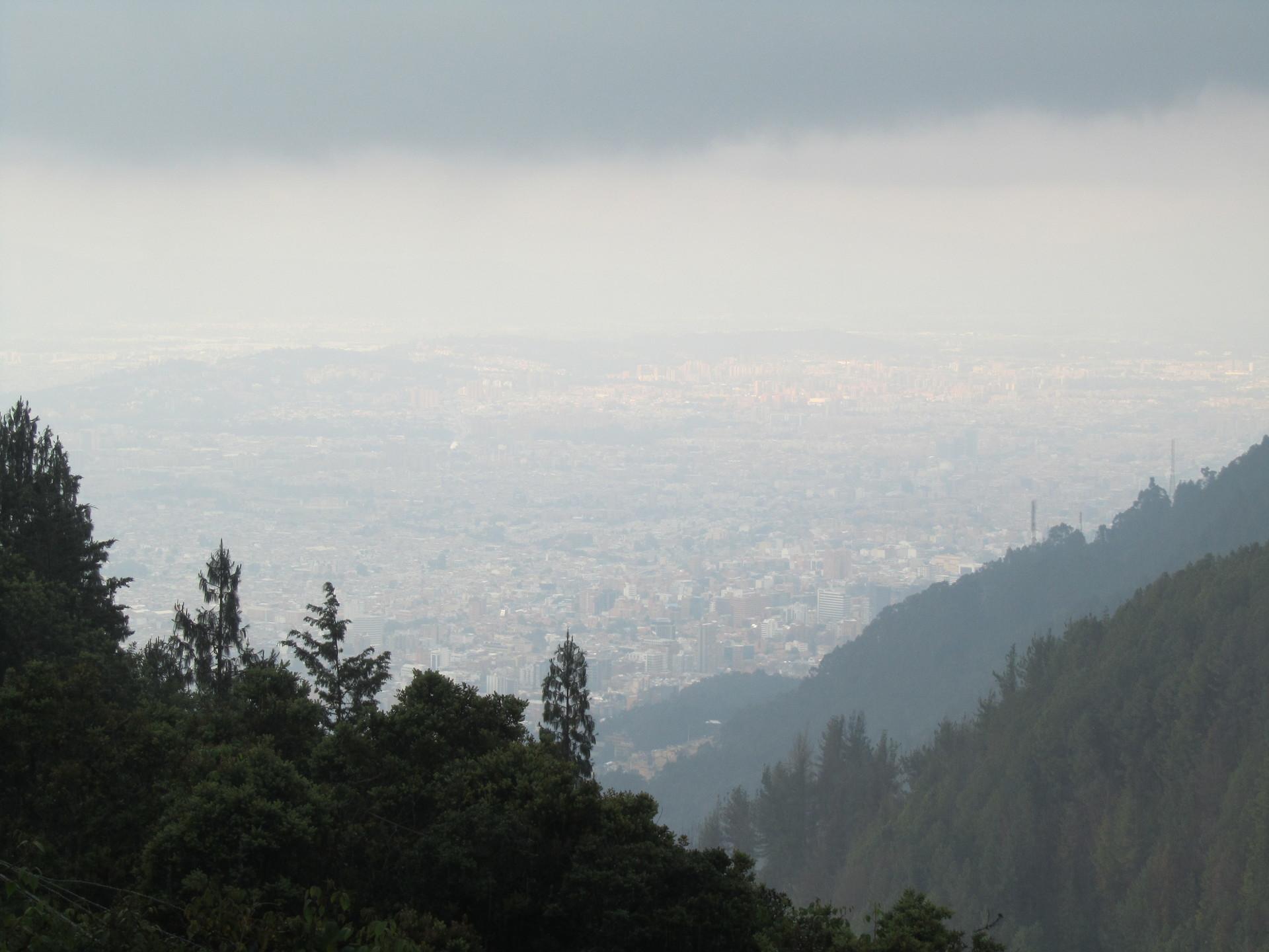 Uma panorámica de Bogotá