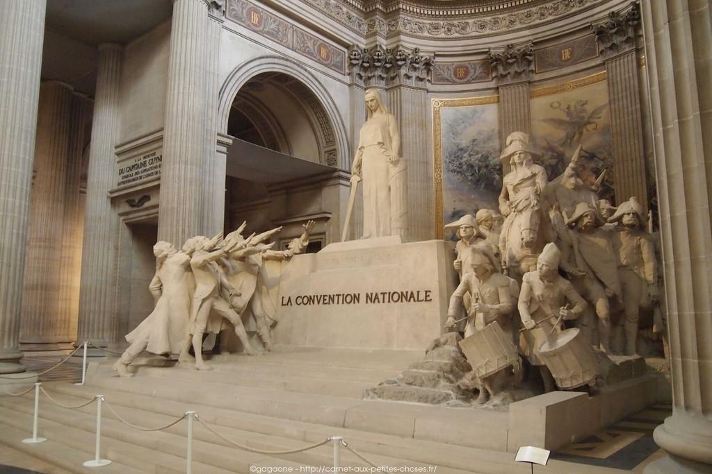 Un lugar que rinde homenaje a los grandes hombres de Francia